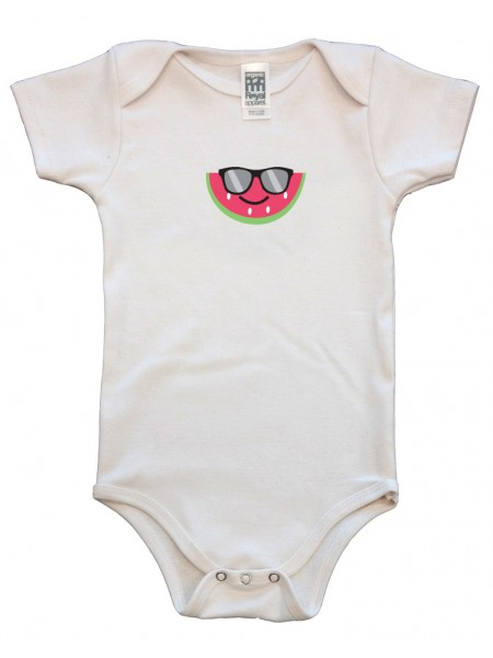 Organic Infant One Piece - Watermelon Graphic