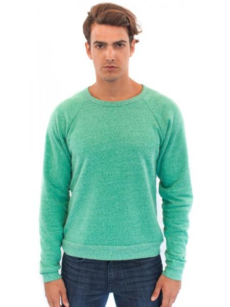 Unisex Triblend Raglan Crew Sweatshirt