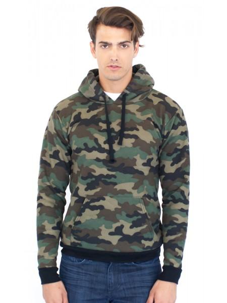 Unisex Camo Fleece Pullover Hoody