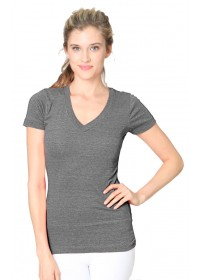 Juniors 50/50 Blend V-Neck
