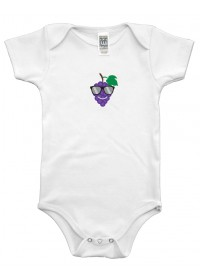Organic Infant One Piece - Grape Graphic