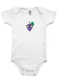Organic Infant One Piece - Grape Graphic