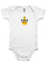 Organic Infant One Piece - Pear Graphic