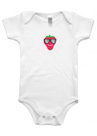Organic Infant One Piece - Strawberry Graphic