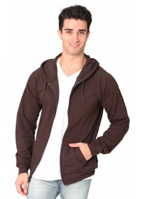 Unisex Organic Full Zip Hooded Sweatshirt