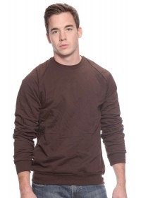 Unisex Organic Raglan Crew Neck Sweatshirt