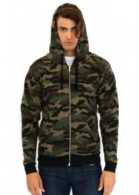 Unisex Camo Fleece Full Zip Hoody
