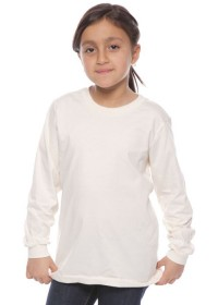 Organic Youth Long Sleeve Crew Tee 5022ORG