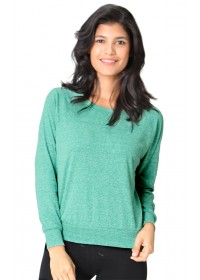 Triblend Long Sleeve Raglan Pullover