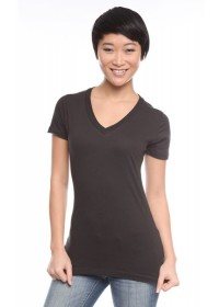 Womens Short Sleeve V-Neck