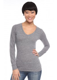Triblend Long Sleeve V-Neck