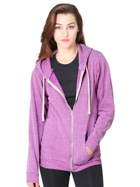 Unisex Triblend Fleece Zip Hoody