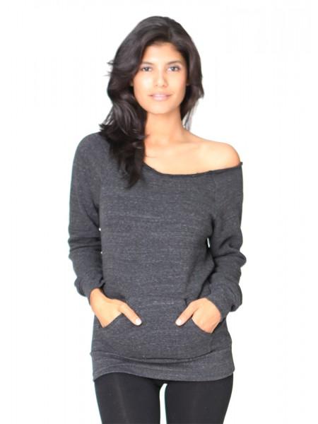ECO Triblend Fleece Raglan w/Pouch Pocket